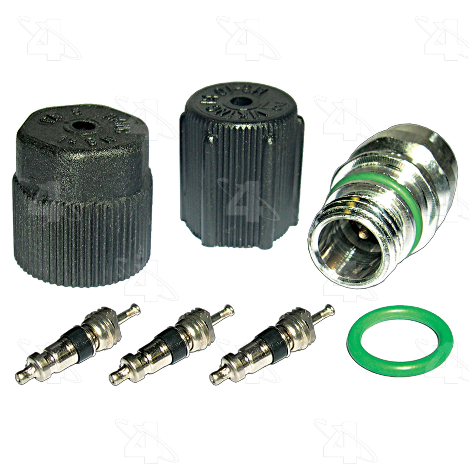 A/C System Valve Core and Cap Kit
