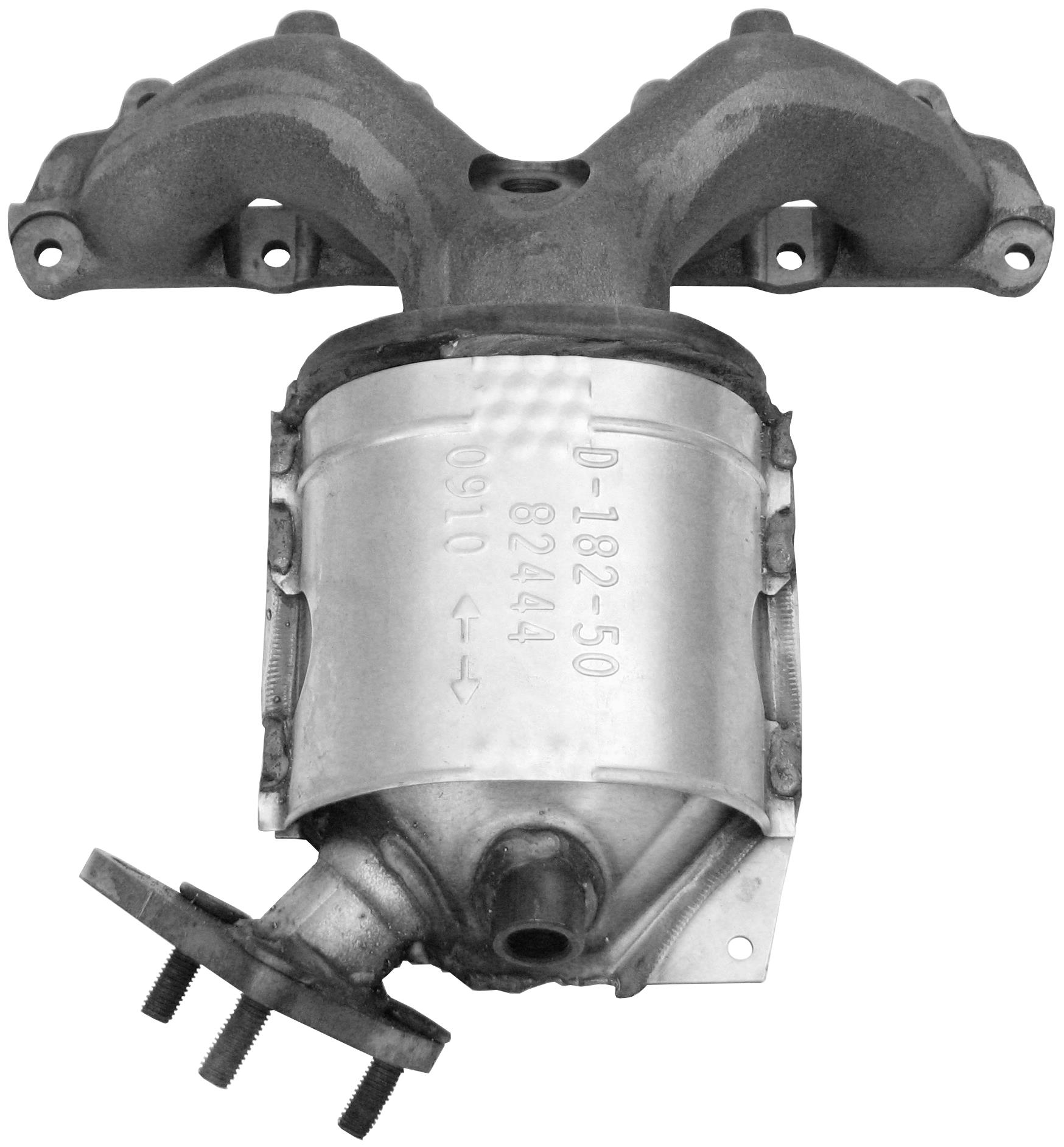 Catalytic Converter with Integrated Exhaust Manifold